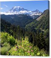 Mount Rainier From Scenic Viewpoint Canvas Print