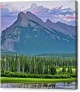 Mount Rundle Canvas Print