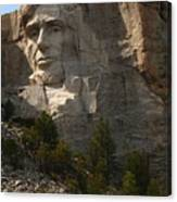 Mount Rushmoore Detail - Abraham Lincoln  Canvas Print