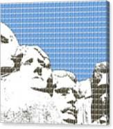 Mount Rushmore - Blue Canvas Print