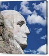 Mount Rushmore Profile Of George Washington Canvas Print