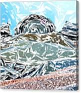Mount Saint Auto Crush Canvas Print
