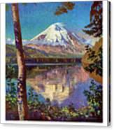 Mount Saint Helens Vintage Travel Poster Restored Canvas Print