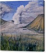 Mount Semeru Bromo And Batok Jawa Timor Indonesia 2008 Canvas Print