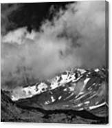 Mount Shasta In Black And White Canvas Print