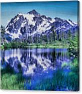 Mount Shuksan And Picture Lake Canvas Print