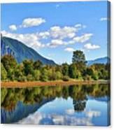 Mount Si Overlooks Mill Pond Canvas Print