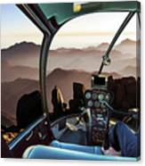 Mount Sinai Helicopter Canvas Print