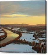 Mount Sugarloaf Winter Sunset Canvas Print