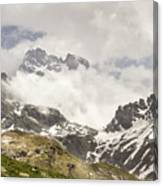 Mount Viso In The Clouds Canvas Print