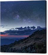 Mount Washington Summit Milky Way Panorama Canvas Print