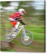 Mountain Bike Rider Canvas Print