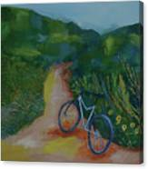 Mountain Biking In The Santa Monica Mountains Canvas Print