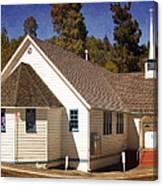 Mountain Crossroads Church Building Canvas Print