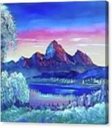 Mountain Dreams Meow Canvas Print
