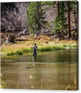 Mountain Fisherman Canvas Print