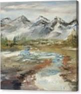 Mountain Fresh Water Canvas Print