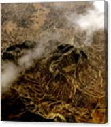 Mountain From The Air Canvas Print