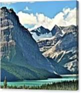 Mountain Glacier And Lake  Canvas Print