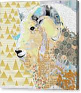 Mountain Goat Collage Canvas Print