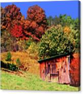 Mountain Home Place Back Yard  Canvas Print
