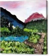 Mountain Lake Walk Canvas Print