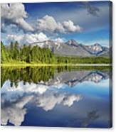 Mountain Lake With Reflection Canvas Print
