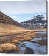 Mountain Landscape Iceland Canvas Print