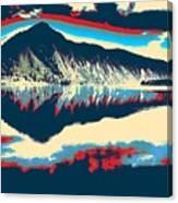 Mountain  Landscape Poster Canvas Print
