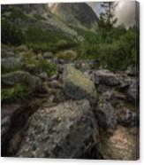 Mountain Landscape With A Creek Canvas Print