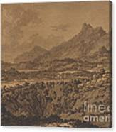 Mountain Landscape With A Hollow Canvas Print