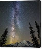 Mountain Milky Way Canvas Print