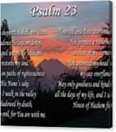 Mountain Morning Prayer Canvas Print