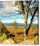 Mountain Overlook At High Point New Jersey Canvas Print