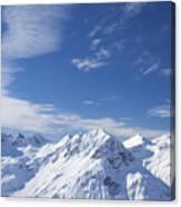 Mountain Panorama Lech Near St Saint Anton Am Arlberg Austria Canvas Print