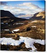 Mountain Pass In Iceland Canvas Print