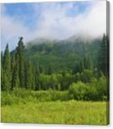 Mountain Peak Clouds Canvas Print