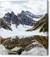 Mountain Picture Lake Agnes Canvas Print