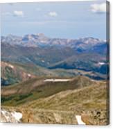 Mountain Range From Mount Evans Summit Canvas Print