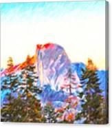 Mountain Range In Yosemite National Park Canvas Print