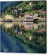 Mountain Reflected In Lake Canvas Print