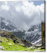 Mountain Refuge Of Mount Viso Canvas Print