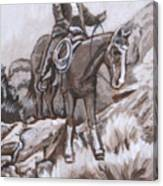 Mountain Ride Historical Vignette Canvas Print