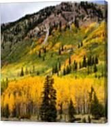 Mountain Side Autumn Canvas Print