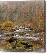 Mountain Stream With Vignette #2 Canvas Print