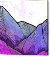 Mountain Texture Canvas Print
