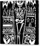 Mountain Town Skeleton Canvas Print