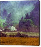 Mountain Valley Home Canvas Print