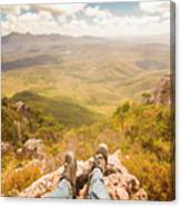 Mountain Valley Landscape Canvas Print