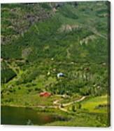 Mountain View In Colorado Canvas Print